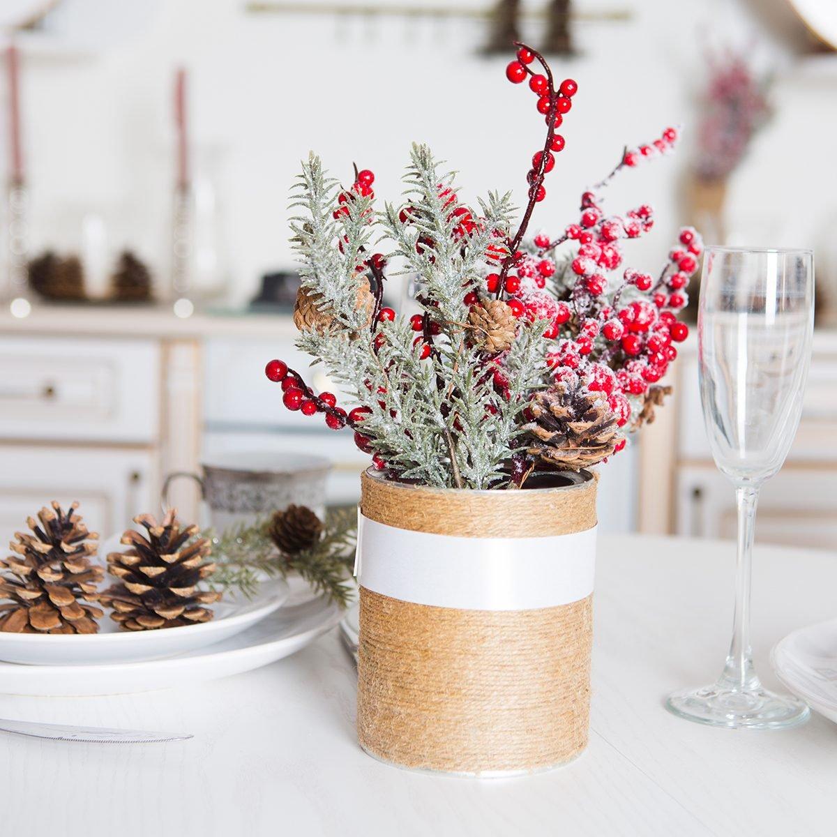 christmas decor kitchen table.