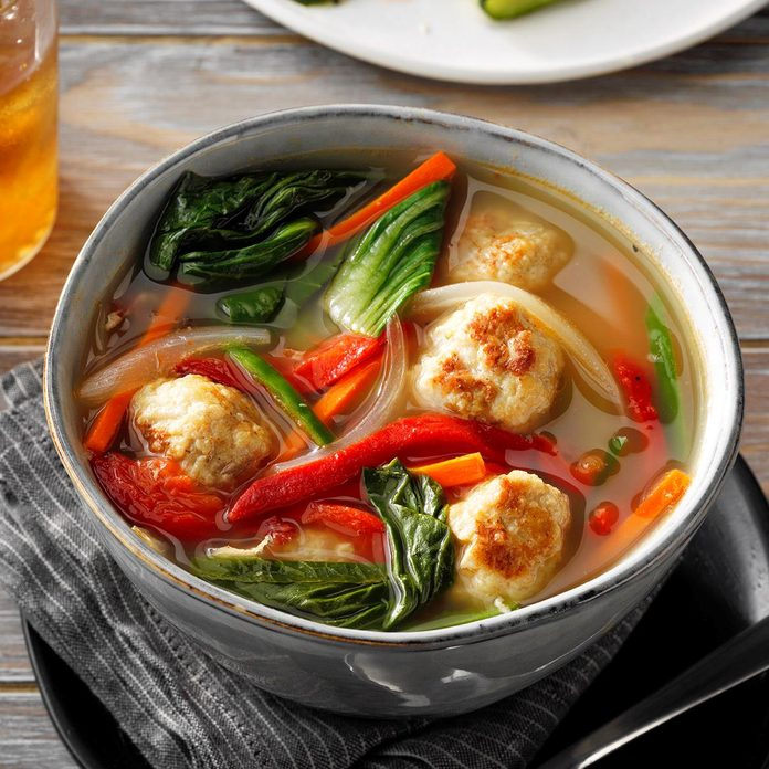 Vietnamese Chicken Meatball Soup With Bok Choy Exps Tohfm20 198499 E07 10 4b 3