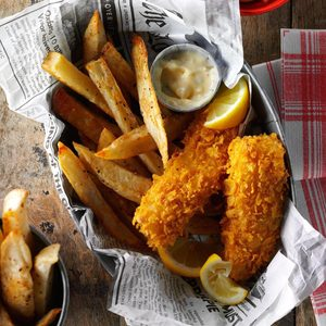 Air-Fryer Fish and Chips