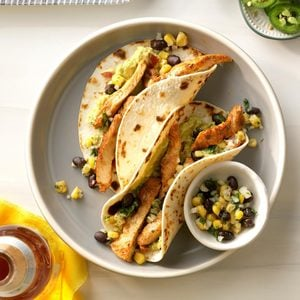 Chicken Street Tacos with Corn-Jicama Salsa