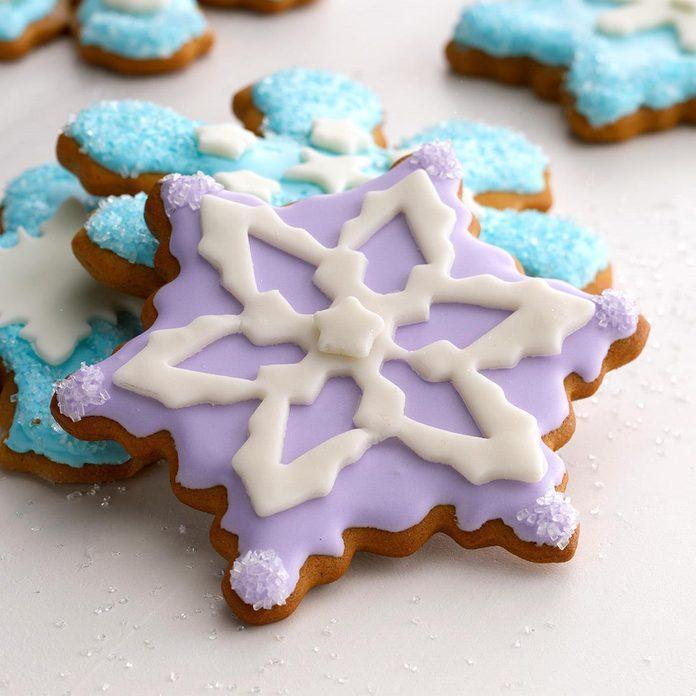 Frozen Snowflake Gingerbread Cookies