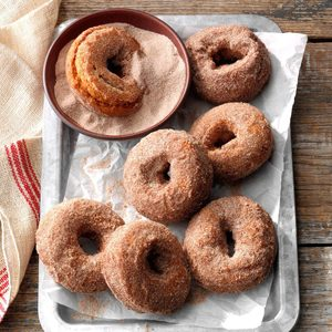 Spiced Sweet Potato Doughnuts