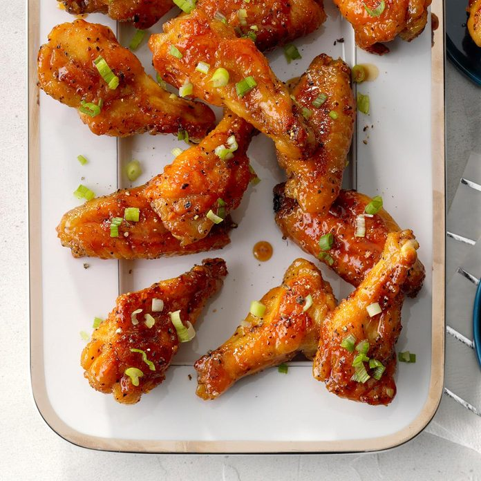 2nd Place: Sticky Maple Pepper Glazed Chicken Wings