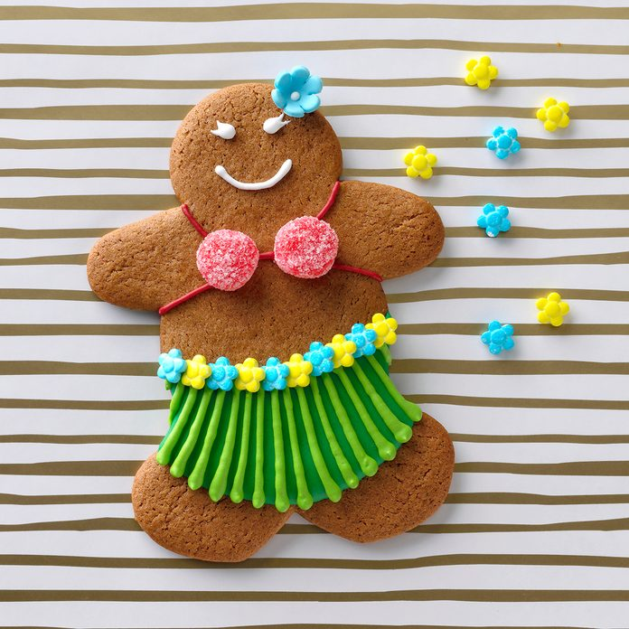 hula girl christmas cookie ginger bread
