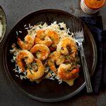 Roast Lemon Butter Shrimp