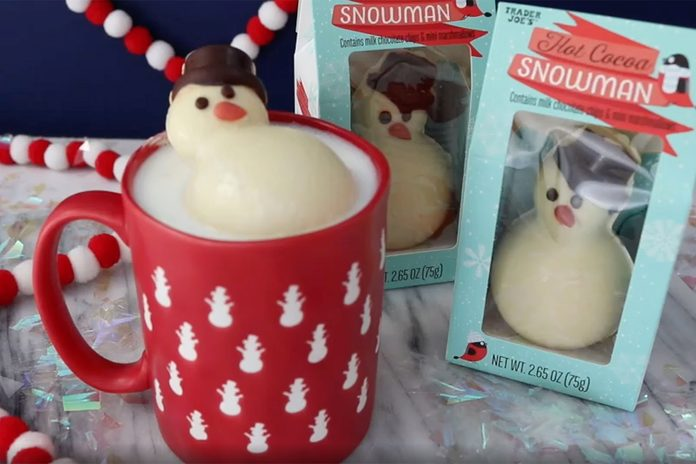 trader joes hot chocolate snowman