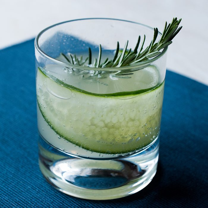 Rosemary Gin Gimlet Cocktail with Cucumber Slice.; Shutterstock ID 1036054450; Job (TFH, TOH, RD, BNB, CWM, CM): TOH