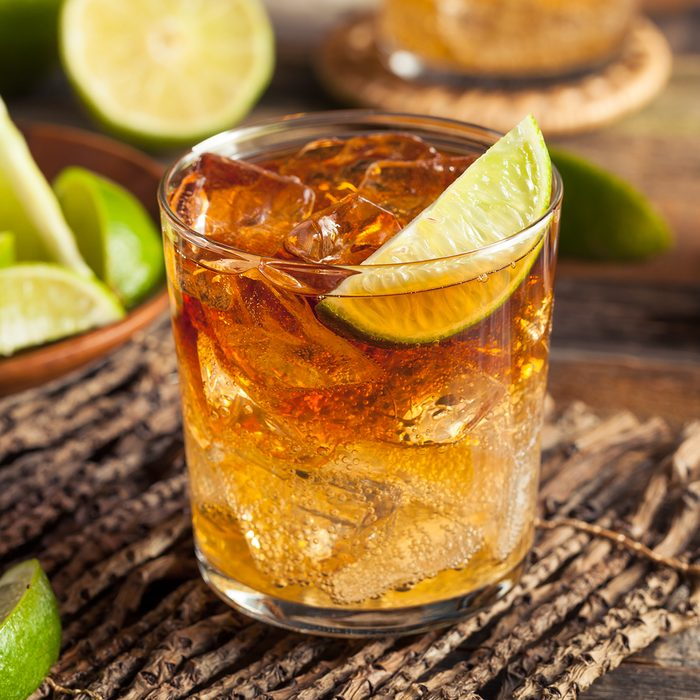 Dark and Stormy Rum Cocktail with Lime and Ginger Beer; Shutterstock ID 385915789; Job (TFH, TOH, RD, BNB, CWM, CM): TOH