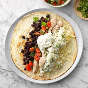 Air-Fryer Loaded Pork Burritos