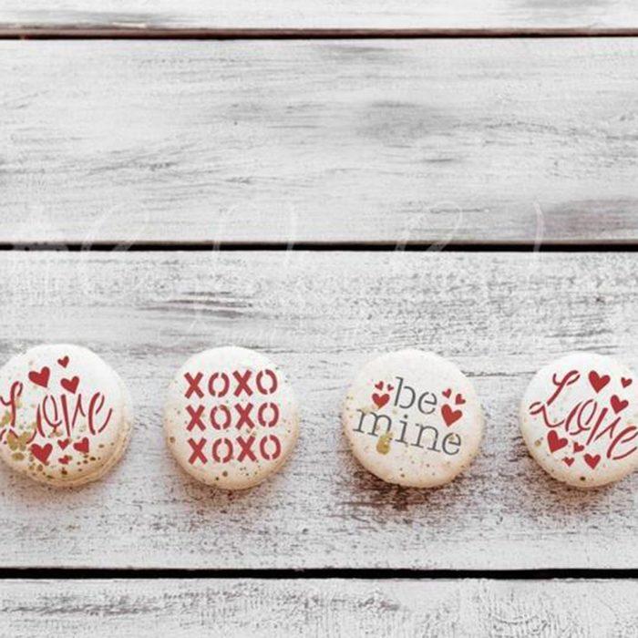 Valentines Round Cookie Stencil 3 Pc Set
