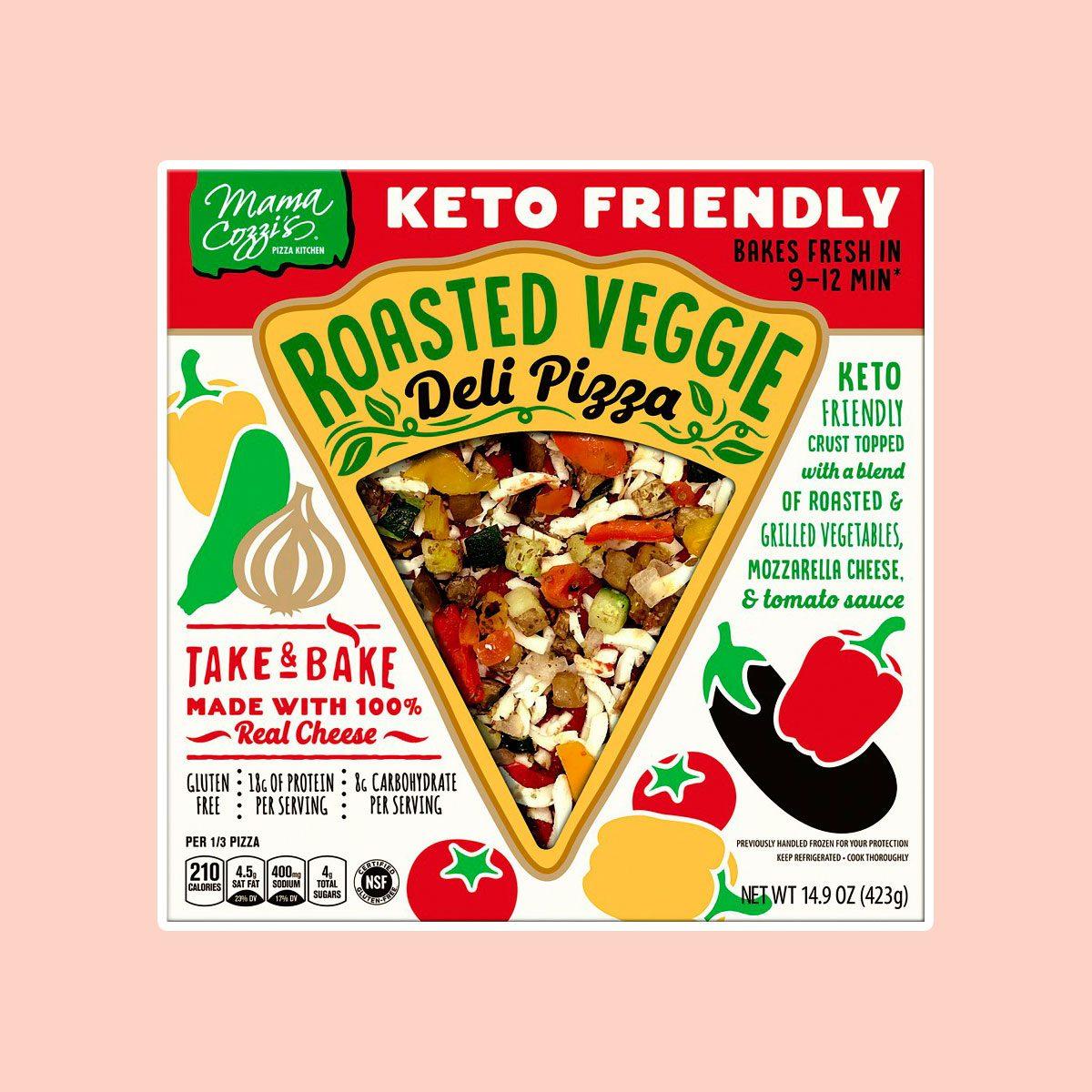 Keto Friendly Roasted Veggie Deli Pizza