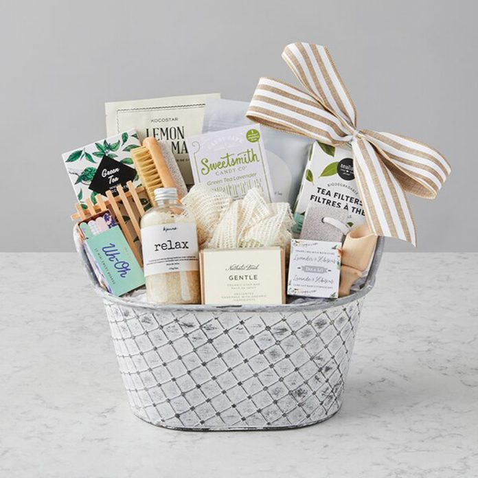 Me Time Gift Basket care package ideas