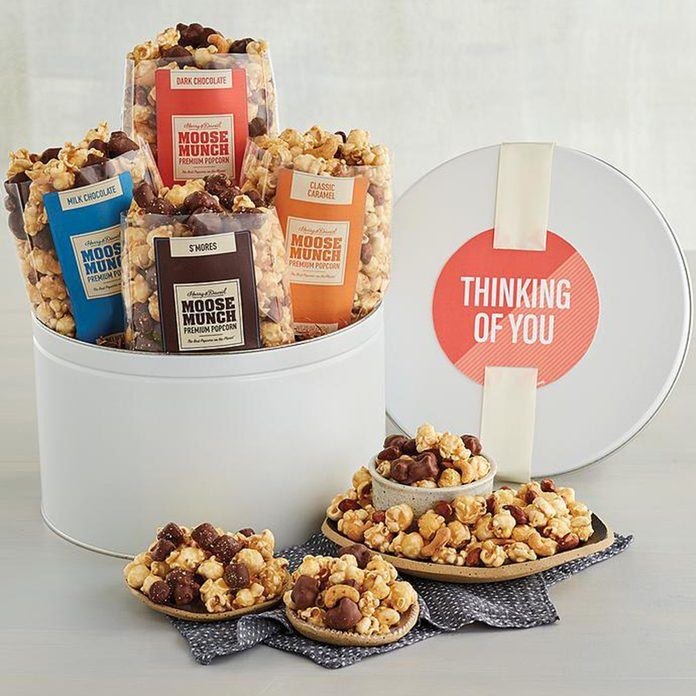 care package ideas Moose Munch Gift Tin