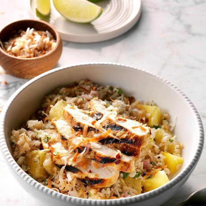 Thursday: Tropical Chicken Cauliflower Rice Bowls