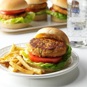 Air-Fryer Tuna Burgers