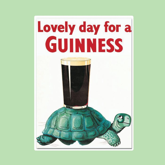 'Lovely Day For A Guinness X' Vintage Advertisement on Wrapped Canvas