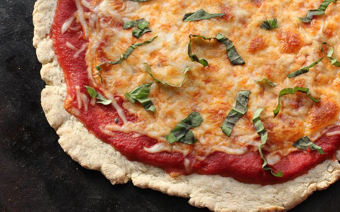 image of baked pizza