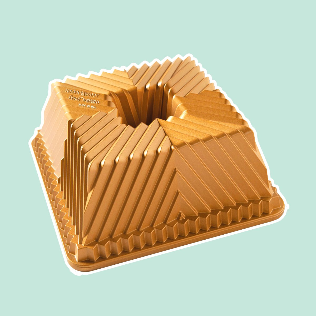 NORDIC WARE SQUARE GOLD BUNDT PAN