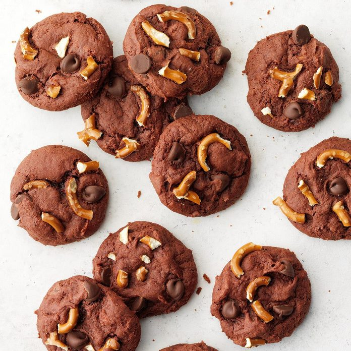 Pretzel and Salted Caramel Chocolate Cookies