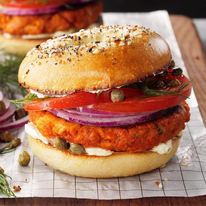 Salmon Croquette Sandwich