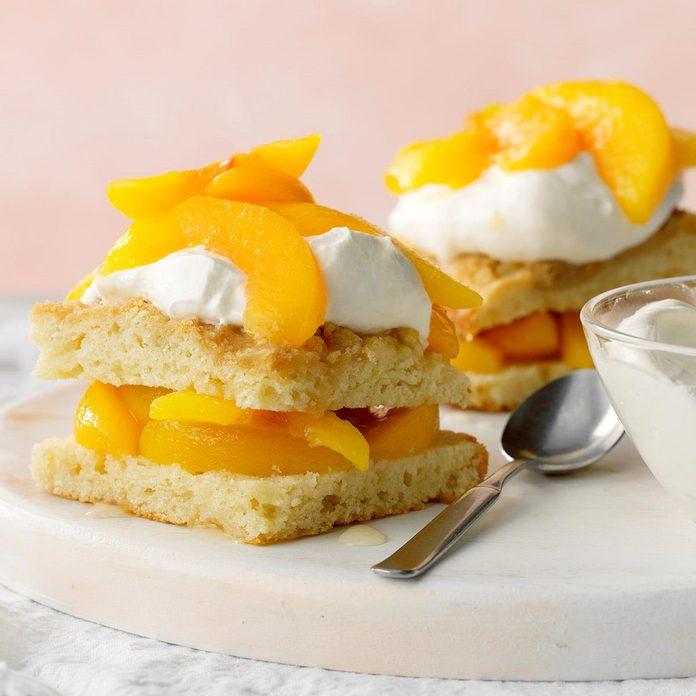Ginger-Peach Shortcake