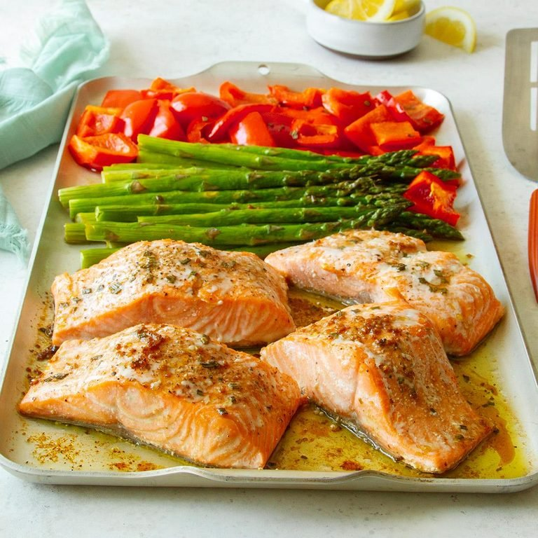 Rosemary Salmon and Veggies