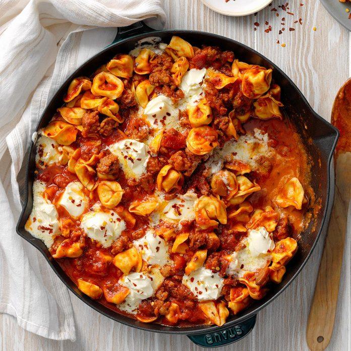 Tortellini with Sausage and Mascarpone