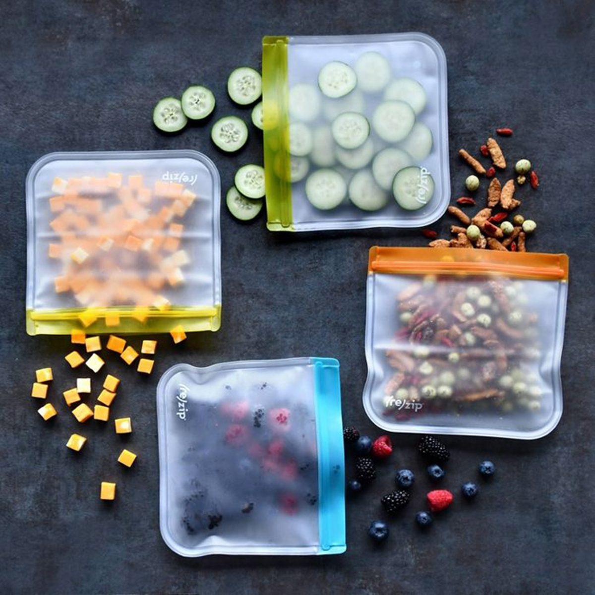 (re)zip Lay Flat Leak Proof Reusable Lunch Bag - 5ct