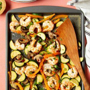 One-Pan Sweet Chili Shrimp and Veggies