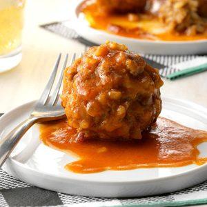 Pressure-Cooker Chipotle Porcupine Meatballs
