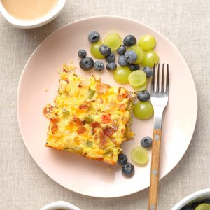 Cheesy Cauliflower Breakfast Casserole