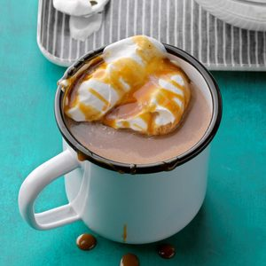 Salted Caramel and Banana Hot Chocolate