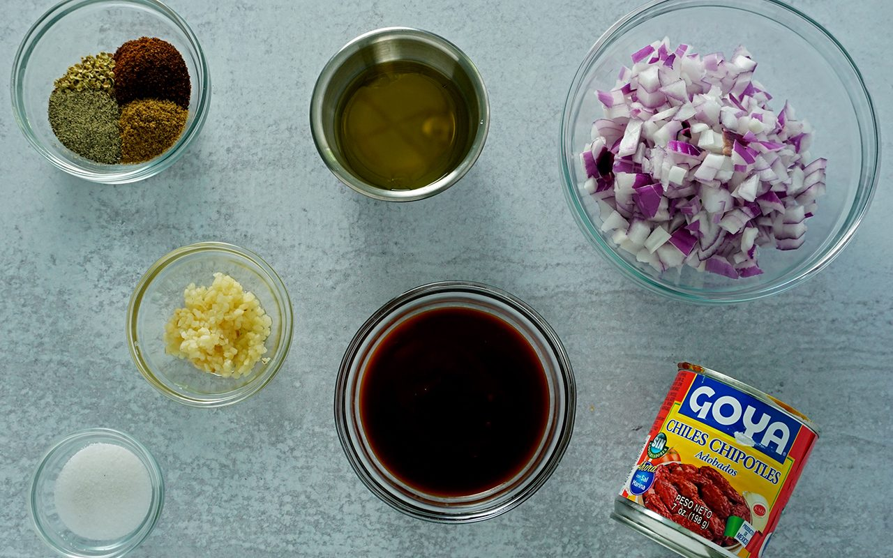 ingredients for chipotle chicken marinade