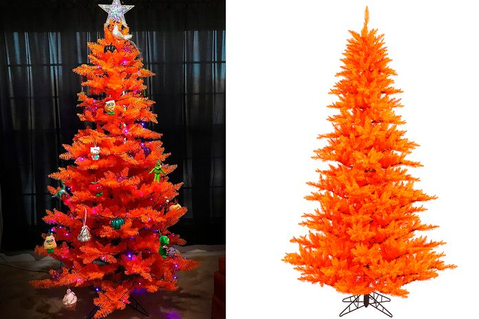 "Vickerman Artificial Christmas Tree 6.5'x46"" Orange Fir Tree 1216 Tips"