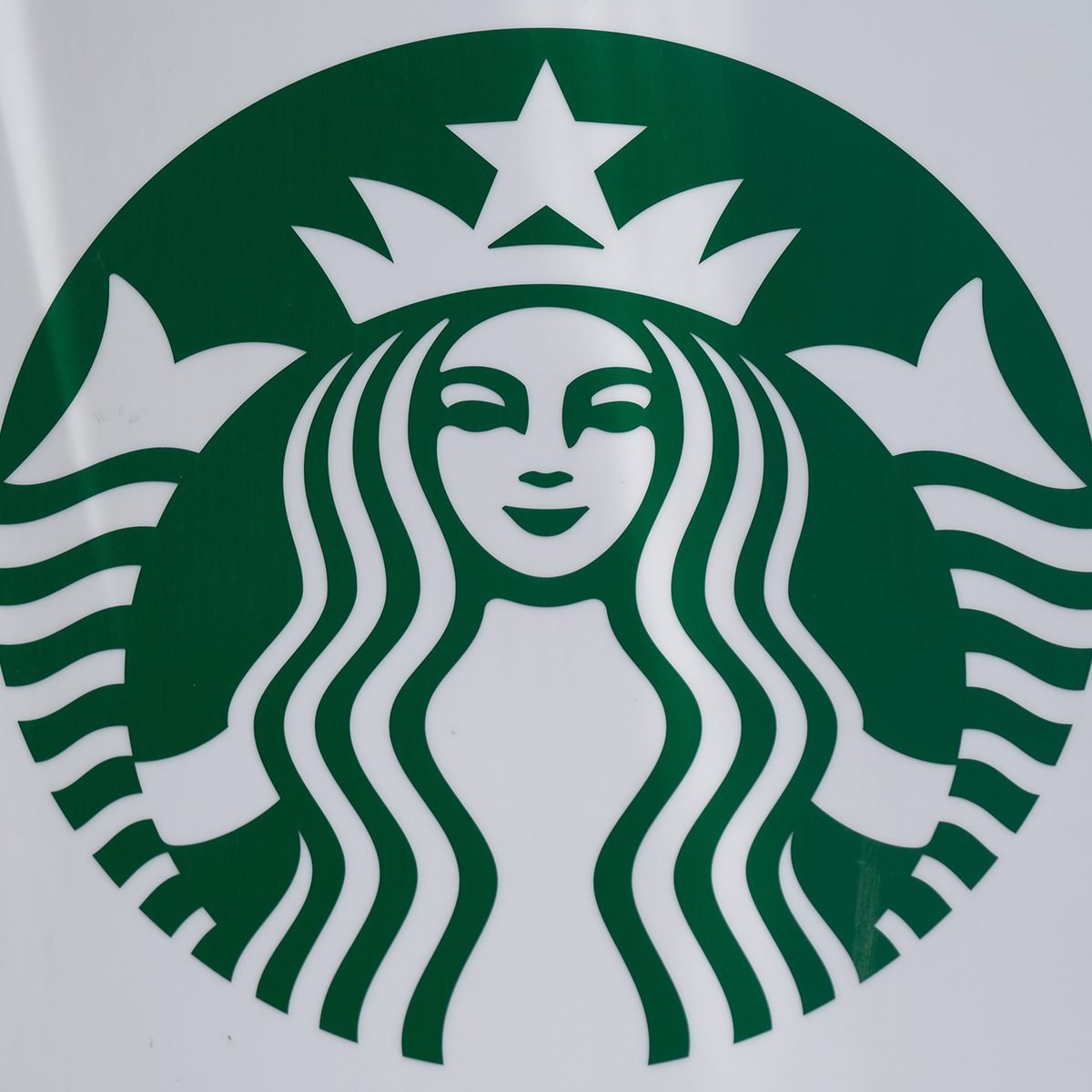 THE HAGUE, NETHERLANDS - JUNE 24: A logo of Starbucks Corp. is displayed outside the coffee chain's store on June 24, 2020 in The Hague, Netherlands. (Photo by Yuriko Nakao/Getty Images)
