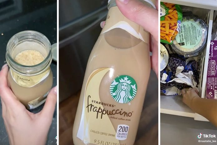 TikTok starbucks frappuccino hack