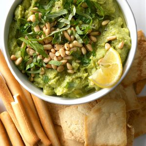 Pine Nut and Basil Guacamole