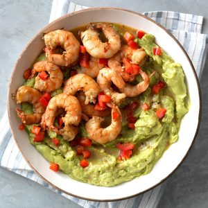 Cajun Shrimp Guacamole with Red Pepper
