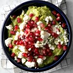 Pomegranate Guacamole with Feta Cheese