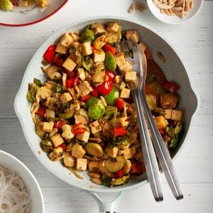 Tofu Stir-Fry with Brussels Sprouts