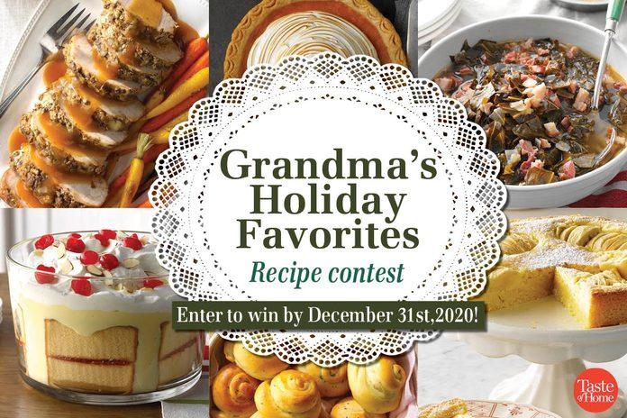 Contests-grandmas holiday favorites