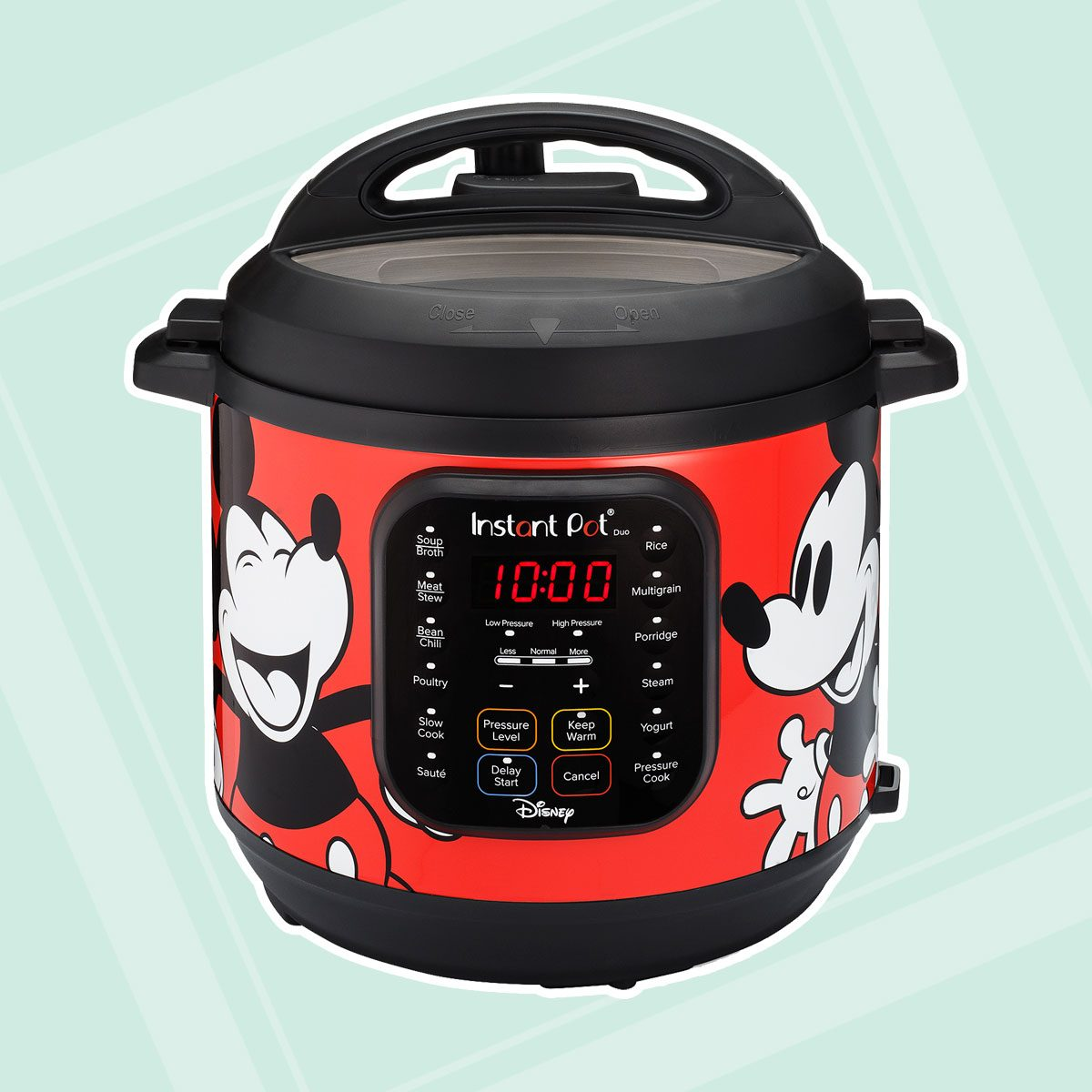 Instant Pot Duo 7-in-1 Electric Pressure Cooker 6Qt, Disney Mickey Mouse – Red