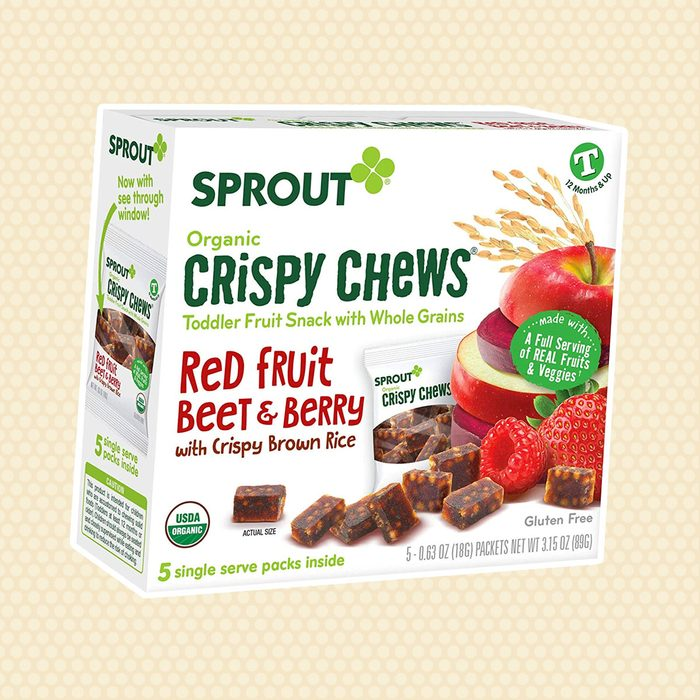 Sprout Organic Baby Food Toddler Snacks Crispy Chews, Red Fruit Beet & Berry, 5 Count Box 0.63 Ounce Single Serve Packets (Pack of 1)