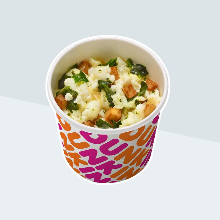 Egg White bowl from Dunkin Donuts