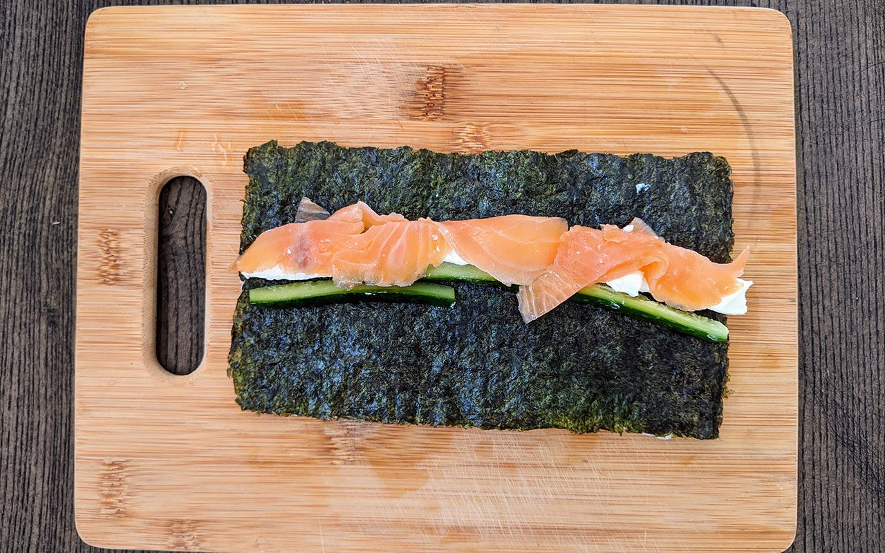 Philly Maki_Ingredients how to make sushi