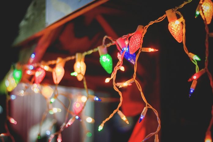 Low Angle View Of Illuminated Christmas Light At Night