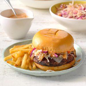 Reuben Portobello Mushroom Burgers