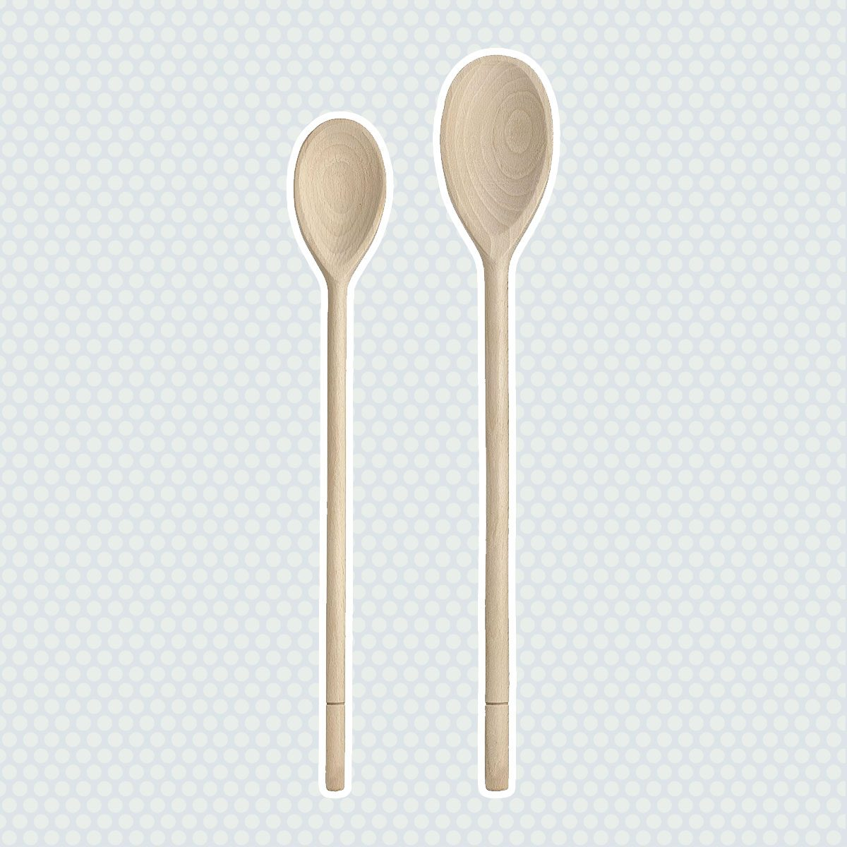 HIC Wooden Spoon Set, Set of 2, 14-Inch and 16-Inch