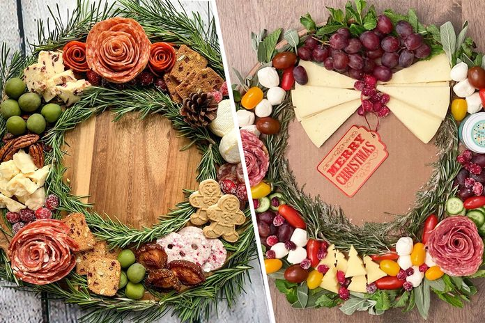 Charcuterie wreath trend