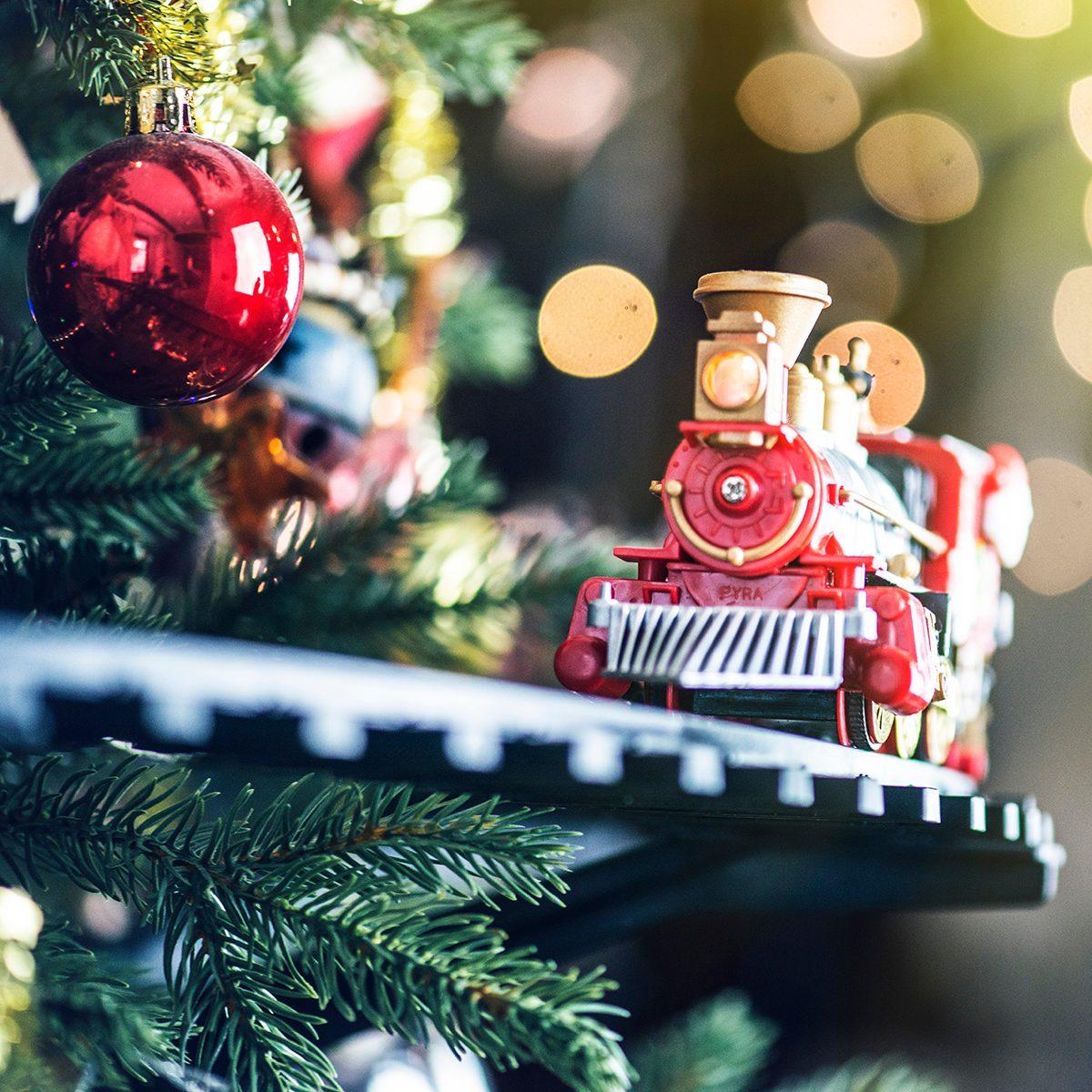 Train on Christmas Tree